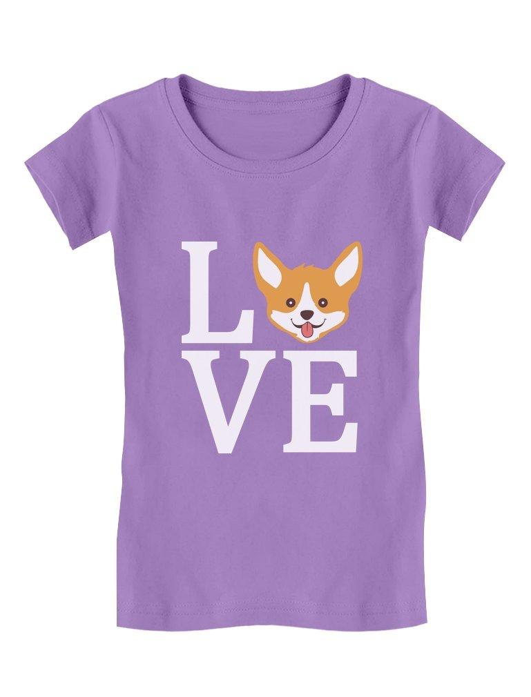 Gift for Dogs Lover Corgi Dog – Animal Lover Toddler/Kids Girls' Fitted T-Shirt