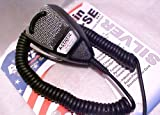 Astatic 636LSE Noise Canceling 4-Pin CB Microphone, Silver Edition