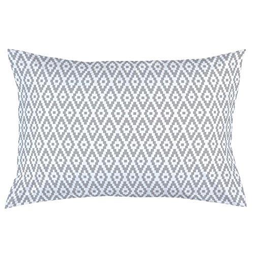 Carousel Designs Silver Gray Aztec Diamonds Pillow Case - Organic 100% Cotton Pillow Case - Made in The USA
