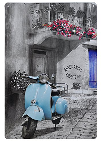 FLY SPRAY Blue vehicle Decorative Signs Tin Metal Iron Sign Painting For Wall Home Office Bar Coffee Shop