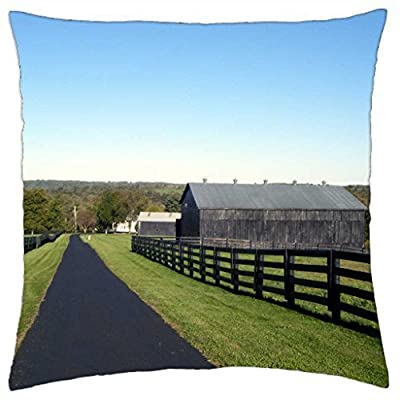 Kentucky Horse Farm - Throw Pillow Cover Case (18