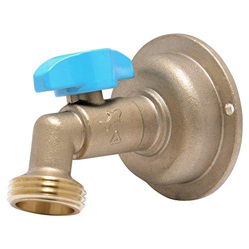 (SharkBite 24620LFA Hose Bibb 90 Degree, 1/2 Inch x 3/4 inch Water Valve Shut Off,  MHT Quarter Turn, Push-to-Connect, PEX, Copper, CPVC, PE-RT)
