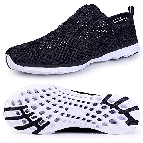 Schuhe Damen Atmungsaktives Schwarz2 Wasser Aqua Schnell Oberfl Mesh KALEIDO Trocknend 8TqSq