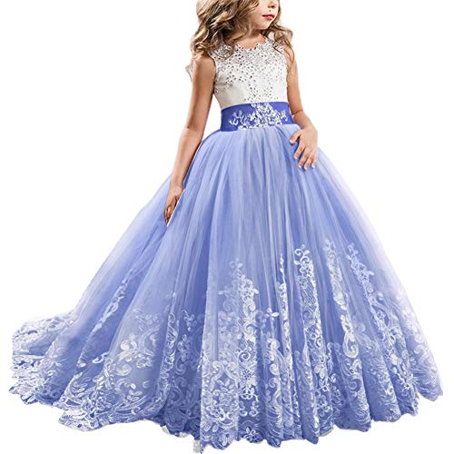 Kids Full Length Lace Bodice Tulle Ball