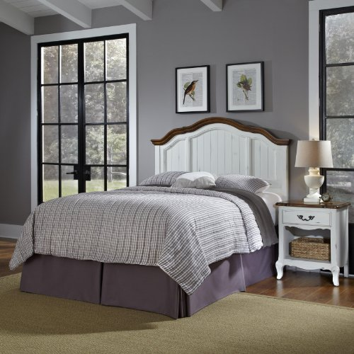 Home Styles 5518-5015 The French Countryside Full/Queen Headboard and Night Stand Set