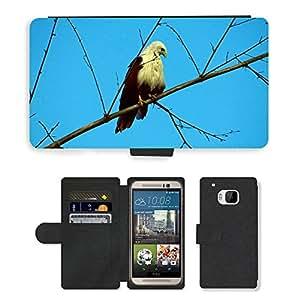 GoGoMobile Flip PU Leather Wallet Case with Credit Card Slots // M00117550 Brahminy Kite Haliastur Indus // HTC One M9