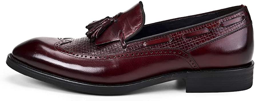MERRYHE Zapatos de Vestir Formales de Negocios para Hombres Moda Borla Brogues Mocasines Bote clásico Calzado de Boda en Punta: Amazon.es: Deportes y aire libre