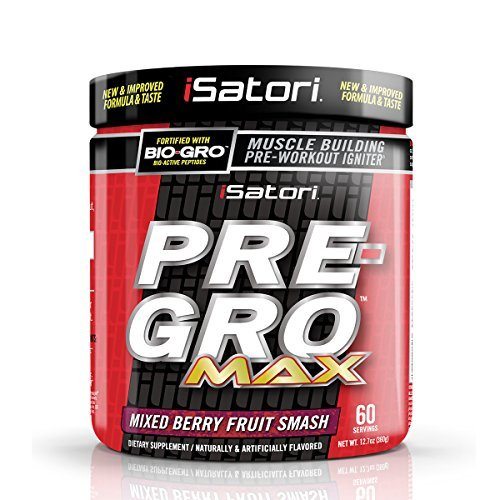 ISatori Pre-gro Max Supplement, Mixed Berry Fruit Smash, 12.7 Ounce