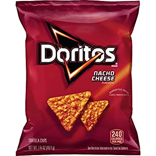 Doritos Nacho Cheese Flavored Tortilla Chips, 1.75 Ounce (Pack of 64)