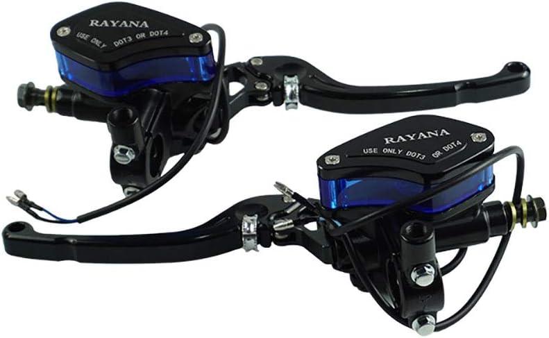 Color : Blue Be82aene A Pair Of Motorcycle Universal Lever Adjustable Handle Hydraulic Clutch Brake Pump Master Cylinder for Honda Yamaha Suzuki Ensemble /étrier de frein arri/ère