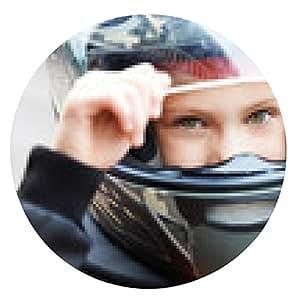 alfombrilla de ratón Retrato de un corredor joven en el casco - ronda - 20cm