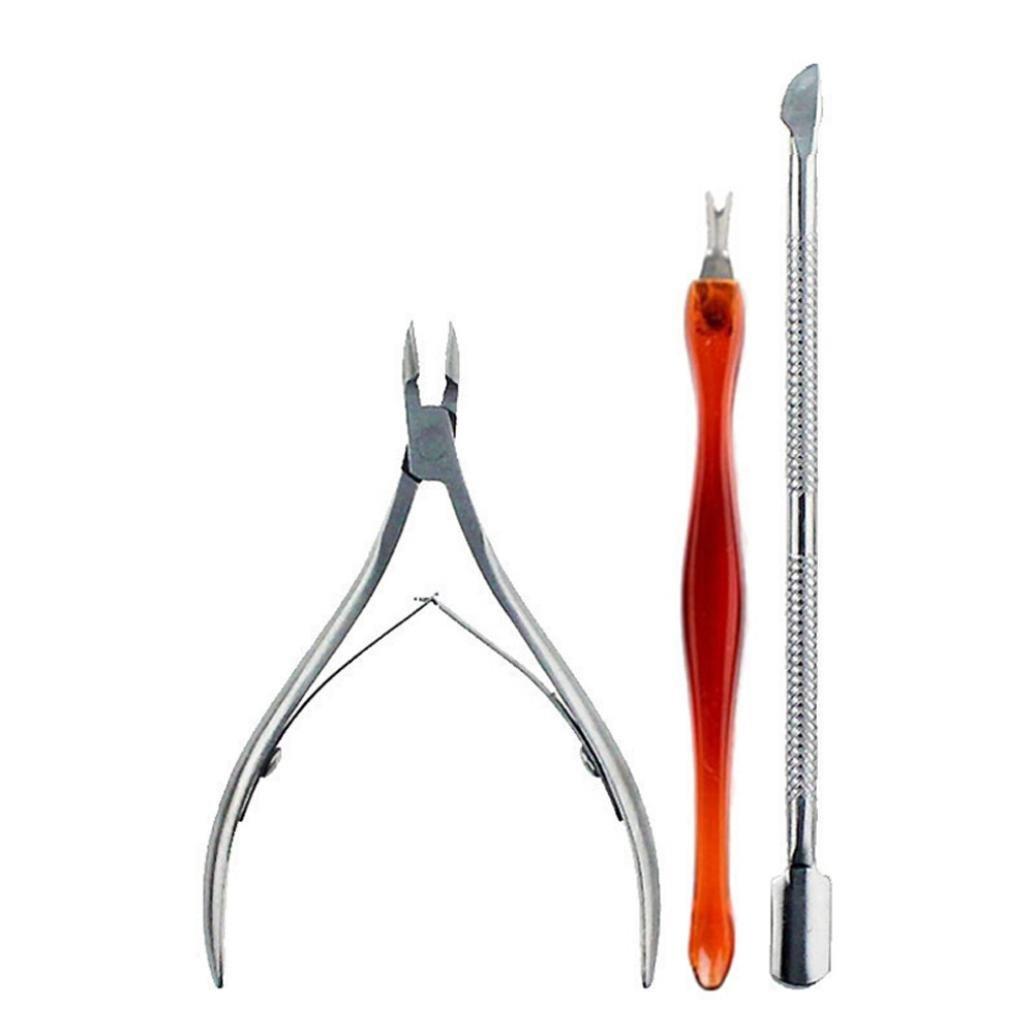 USHOT 3PCS Nail Tool Kit For Thick Inner Nail Stainless Steel Toenail Scissors
