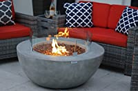 "42"" Modern Concrete Fire Pit Table ..."