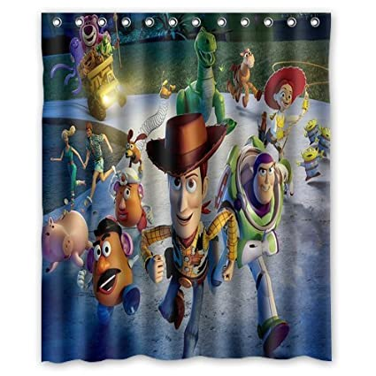 Aloundi Custom Toy Story Mildew Anti Bacterial Shower Curtain