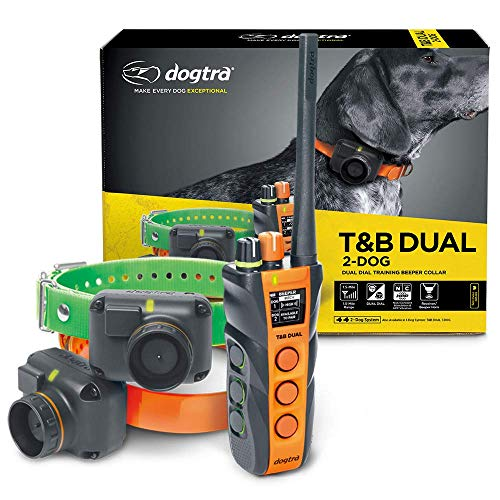 Dogtra T&B Dual 2-Dog Long Range 1.5-Mile Expandable Dual DIAL Training & Beeper Remote Dog Training E-Collar for Upland Gun Dog