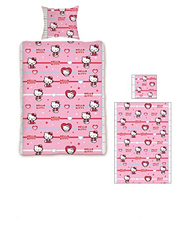 Hello Kitty Duvet Cover Set Twin Bed Size with Pillowcase Assorted for Girls(78 x 55 in.)