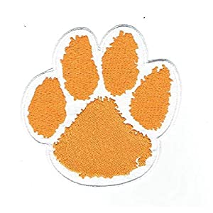 Clemson Tigers Tiger Paw Team Logo Iron on Jersey Patch 4""