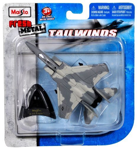 B-1b Lancer Bomber (Maisto Fresh Metal Tailwinds 1:270 Scale Die Cast United States Military Aircraft - U.S. Air Force Supersonic Strategic Bomber B-1B Lancer with Display Stand (Dimension: 3-1/2