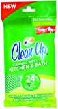Clean Up Kitchen and Bath Wipes, 24 Count