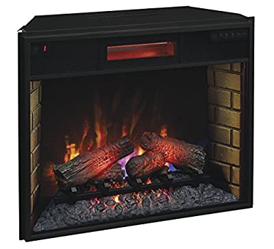 "ClassicFlame 28II300GRA 28"" Infrared Quartz Fireplace Insert with Safer Plug"