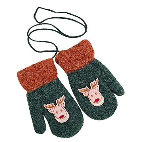 Renforcé Vêtements Anniversaire Cou Chaud Cadeau Noël Christmas De Angelof Fille Deguisement Accessoires Accrochant Hiver Vert Gants OUYAFq