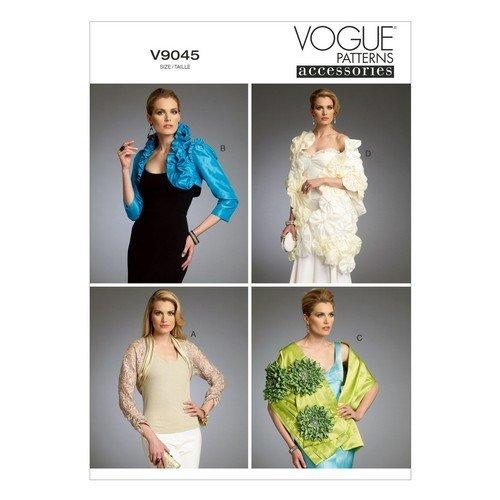 Vogue Sewing Pattern 9045 V9045 Misses Size 4-14 Shrugs Bolero Wraps