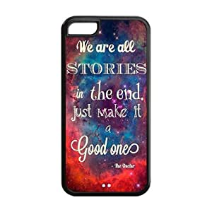 5C Phone Cases, Dr.Who Quotes Hard TPU Rubber Cover Case for iPhone 5C by icecream design