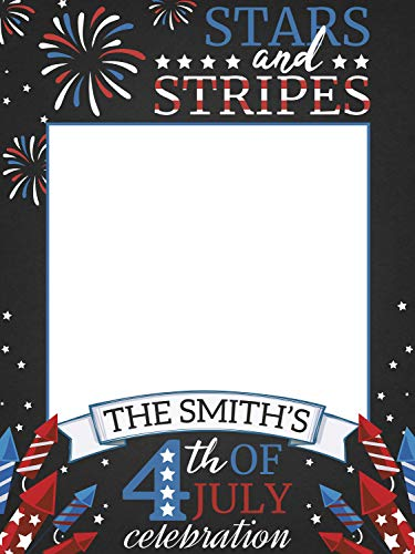 4th of July, Stars and Stripes, 4th of July Photo Prop, Independence Day, 4th of July Family Reunion, Handmade Party Supply Photo Booth Frame, Personalized 4th of July Celebration, sizes 36x24, 48x36