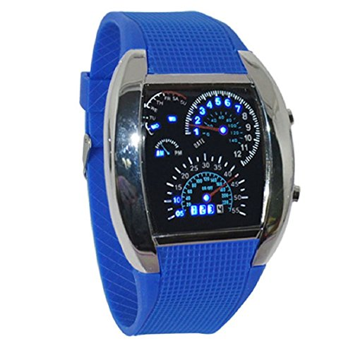 Lookatool Aviation Turbo Dial Flash LED Watch Gift Mens Lady Sports Car Meter (Naked Elsa And Anna)