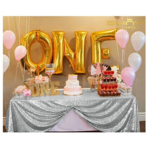 New Sale!select Your Sale~90''x156''silver Sequin Tablecloth, Wedding Table Cloth, Sparkle Sequin Linens, Glitz, Sequin Cake Tablecloth ~M1020 (90''x156'') ()