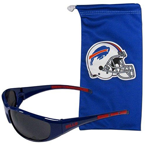 NFL Buffalo Bills Adult Sunglass and Bag Set, - Bills Sunglasses