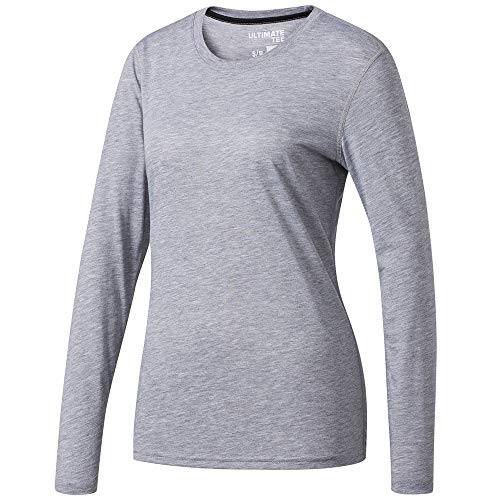 - adidas Women's Training Ultimate Long Sleeve Tee, Medium Grey Heather, Medium