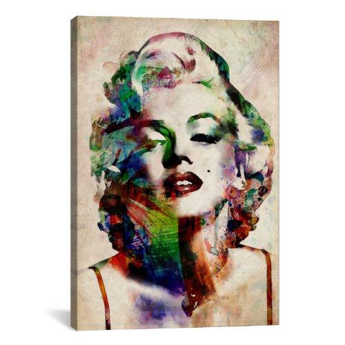 Monroe Color Marilyn (iCanvasART Watercolor Marilyn Monroe by Michael Thompsett Canvas Art Print, 40 by 26-Inch)
