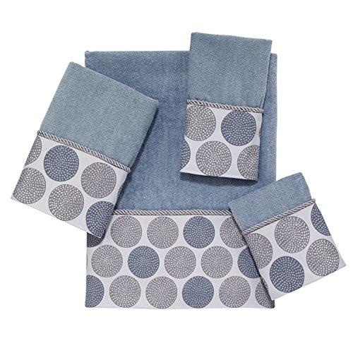 Avanti Linens Dotted Circles Embellished 4-Piece Decorative Towel Set Mineral ()