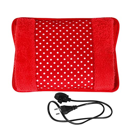 MCP Electric Hot Water Bag Heating Gel Pad Fur Velvet With Hand Pocket and Auto cut off Pain Relieve (Colour May Vary…