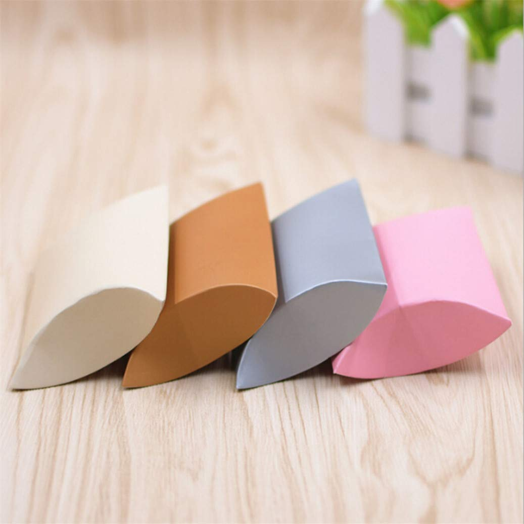 GOMYIE 100Pcs Kraft Paper Pillow Candy Box for Wedding Party Favor Gift Red