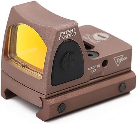 RMR Red DOT Sight 3-25 MOA Reflex Sight Gamma di Armi Regolabili per la luminosit/à con Supporto
