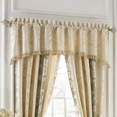 Croscill Windsong Arch Valance, Cream (Croscill Stripes Curtain)