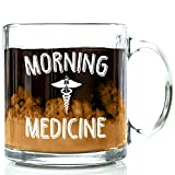 Got Me Tipsy Morning Medicine Funny Glass Coffee Mug 13 oz - Best Birthday Gifts for Men and Women, Him or Her, Mom or Dad from Son or Daughter - Unique Idea for Coworker, Boss, Doctor, Nurse