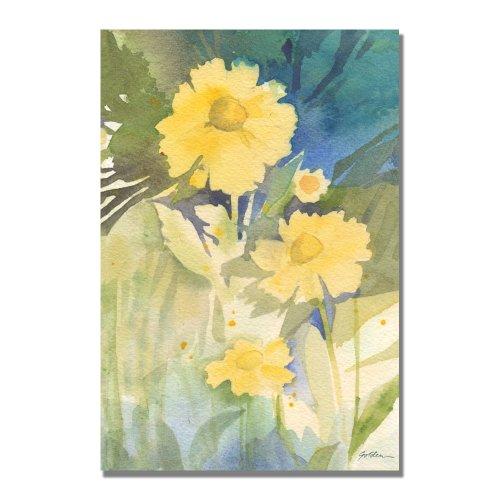 Sunshine Yellow by Sheila Golden, 22x32 inches Canvas Wall Art - Golden Yellow Flower