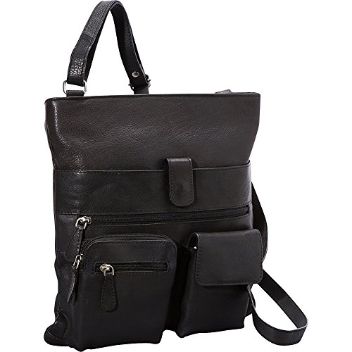 r-r-collections-4-pocket-leather-crossbody-black