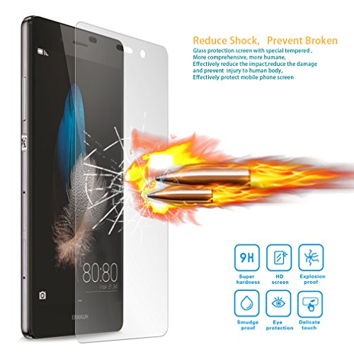 Yiizy Huawei P8 lite ALE-L21 Screen Protector 9H Hardness Tempered Glass Premium HD High Definition Clear Toughened Ultra-thin Glass Bubble Free Shield With 2.5d Rounded ()