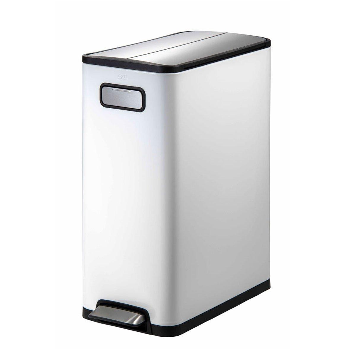 ゴミ箱 ごみ箱 分別 40リットル ふた付き おしゃれ EKO エコフライ ステップビン 20L+20L ホワイト EK9377MP B074L5YRRW