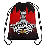 FOCO NHL Chicago Blackhawks 2015 Stanley Cup Champions Drawstring Backpack