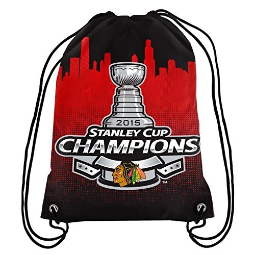 FOCO NHL Chicago Blackhawks 2015 Stanley Cup Champions Drawstring Backpack by FOCO