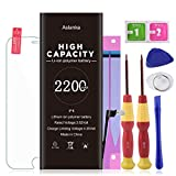 Aslanka Battery for Model iPhone 6, High Capacity 2200mAh Battery Replacement with Repair Tool Kit, Include Instructions and Screen Protector -2 Years Warranty