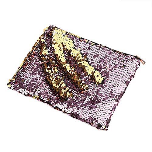 Zipper Pink Purse Kalttoy Case Pouch Pencil Cosmetic Storage Makeup Fashion Coin Bag Sequins wTvz7