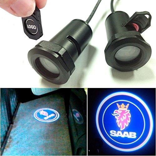 Champled For Saab Car Led Laser Projector Illuminated Emblem Under