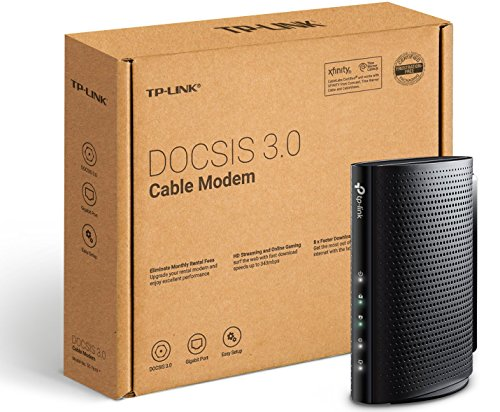 TP-Link DOCSIS 3.0 343Mbps High Speed Cable Modem, 8×4, Certified