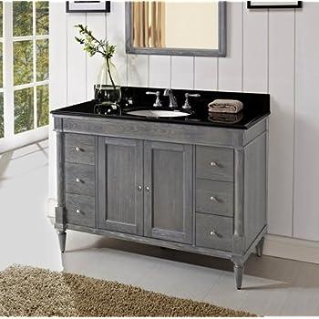 Fairmont Designs 142 V48 Rustic Chic 48 Inch Vanity In Weathered Oak Bathroom Vanities